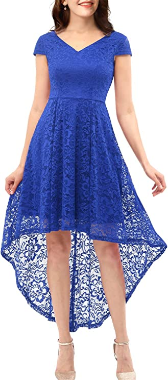 Womens Lace Bridesmaid Cocktail Dress