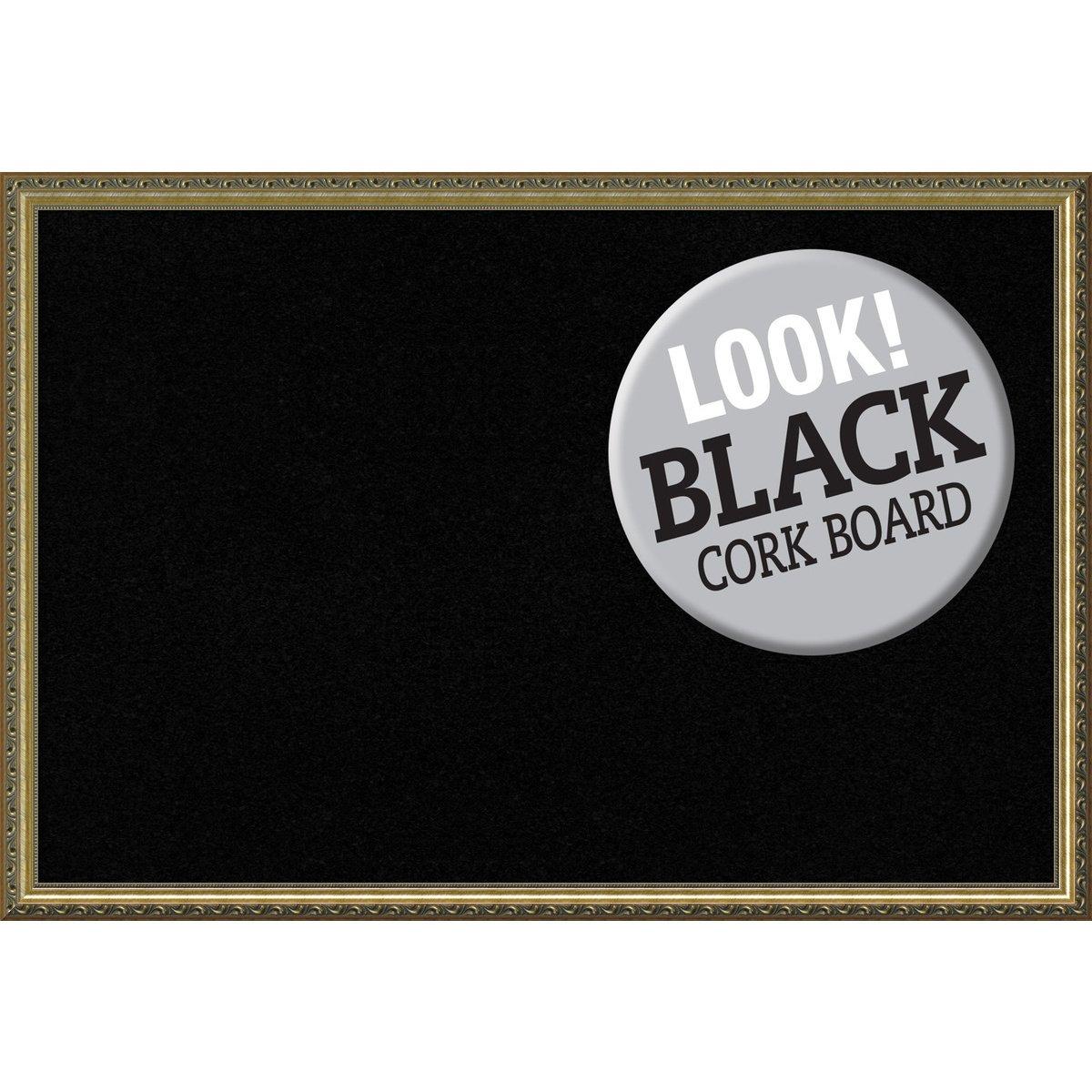 Amanti Art Framed Black Cork Board Parisian Bronze: Outer Size 38 x 26'' X-Lg, Extra Large