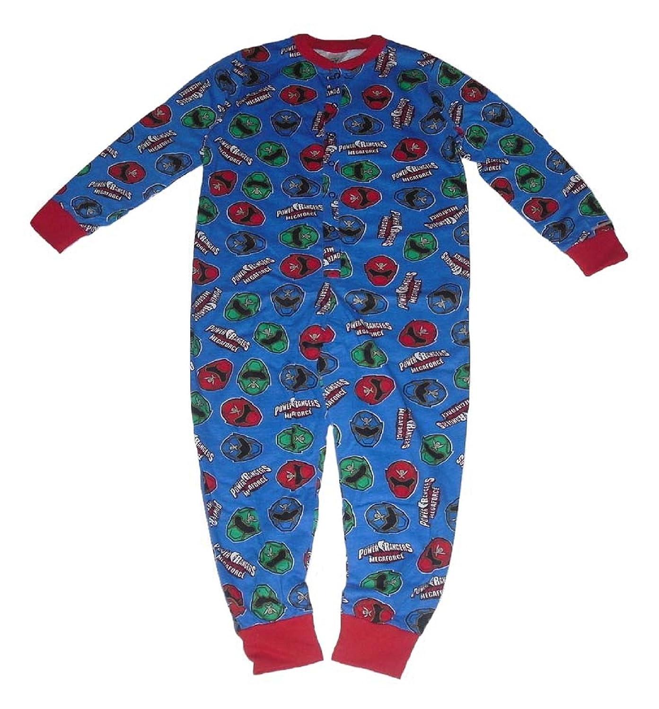 Boys Power Rangers Onesie All in One Pyjamas 4-10 Years (7-8 years)   Amazon.co.uk  Clothing 80357b8d6