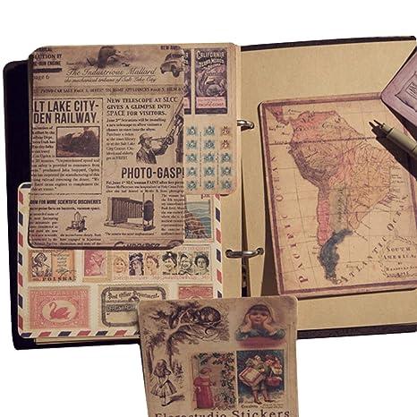 happyquda Creative Mapas sellos antiguos conjuntos de ...