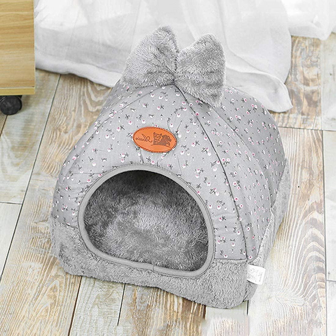 Sof/á Cama para Mascotas con Coj/ín Extra/íble Suave y C/ómodo para Dormir Nido Cueva para Mascotas Cachorros Bverionant Cama Caseta Perro Gato Interior