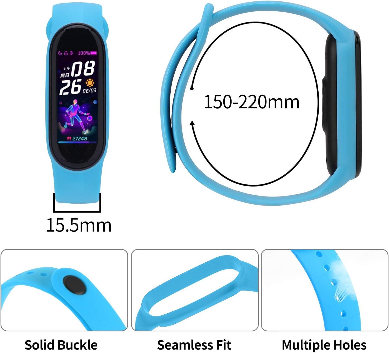 Geeignet F/ür Das Neueste Xiaomi Mi Band 5-Ersatzband Perfekt Kompatibel Mit Xiaomi Mi Band 5 Armband FYTENG Hochwertiges Buntes Silikon-Ersatzband