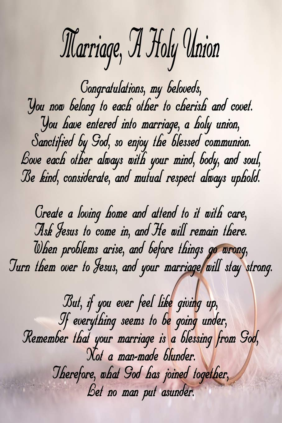 Marriage A Holy Union Journal For Newlyweds 6x9 Blank Lined 120 Page Wedding Poem Planner Notebook Christian Wedding Card Alternative Married Couple Gift Wedding Rings Series Journals Nimble Muse 9781095215340 Amazon Com Books