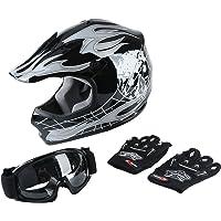 XFMT DOT Youth Kids Motocross Offroad Street Dirt Bike Helmet Goggles Gloves ATV… photo