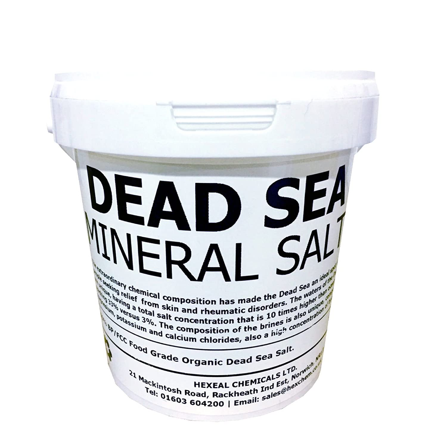 DEAD SEA SALT | 1KG BUCKET | 100% Natural | FCC Food Grade Dead Sea Works Ltd.
