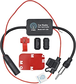 WEKON Amplificador de Señal de Radio de Coche, Amplificador Am/FM de Coche, Antena Amplificador Radio Am/FM/Dab Coche Vehículo Fortalecimiento de ...