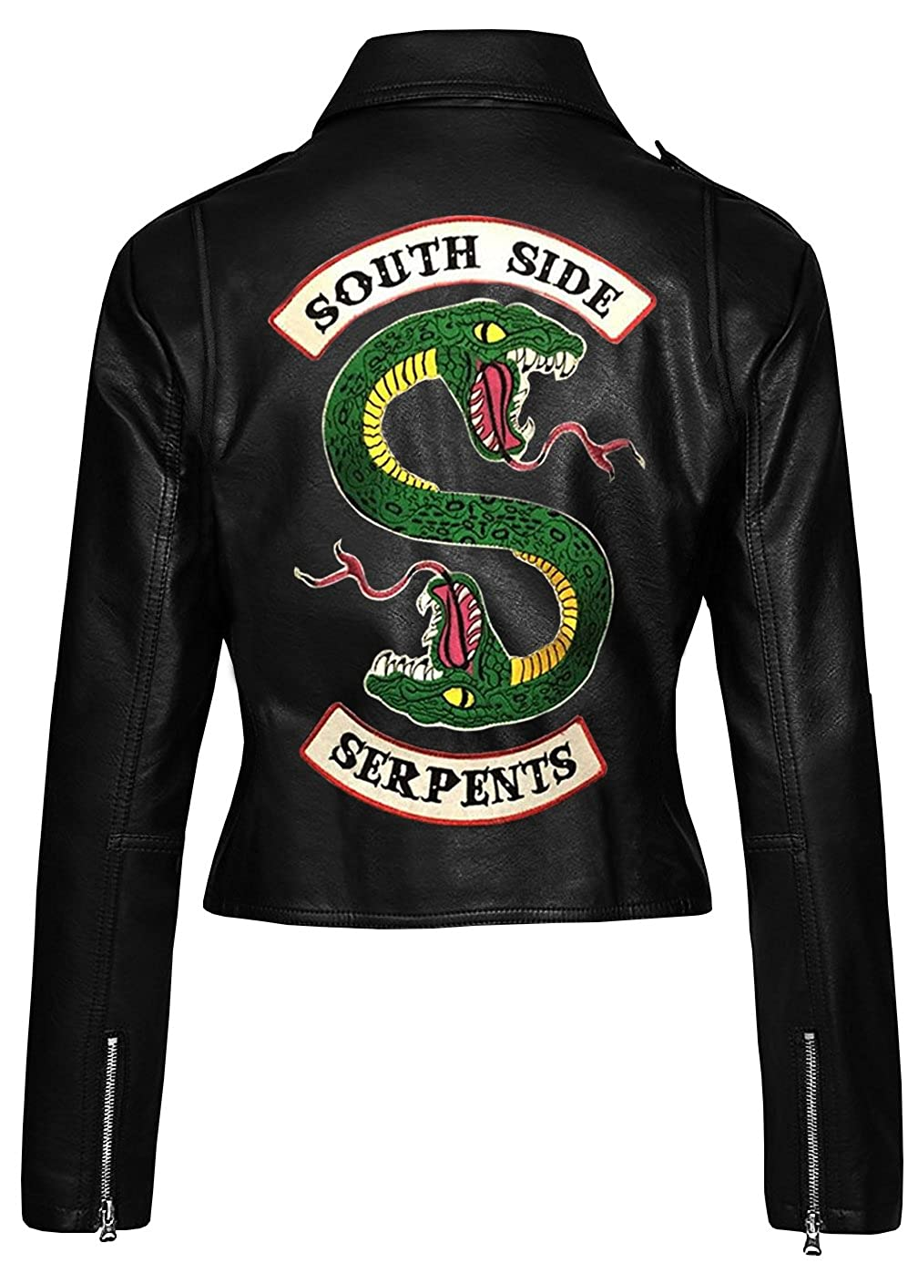 Fashion_First Riverdale Southside Serpents Slim Fit Womens Biker Leather Jacket