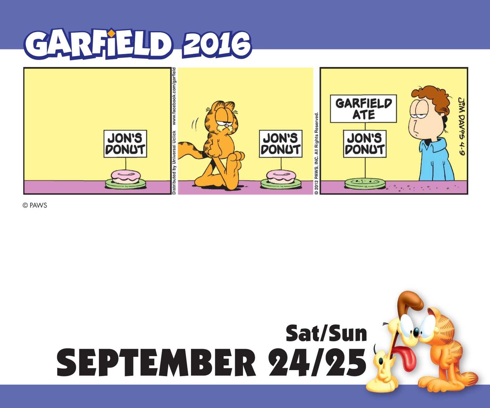 Garfield 2016 Day-to-Day Calendar: Amazon.de: Jim Davis ...