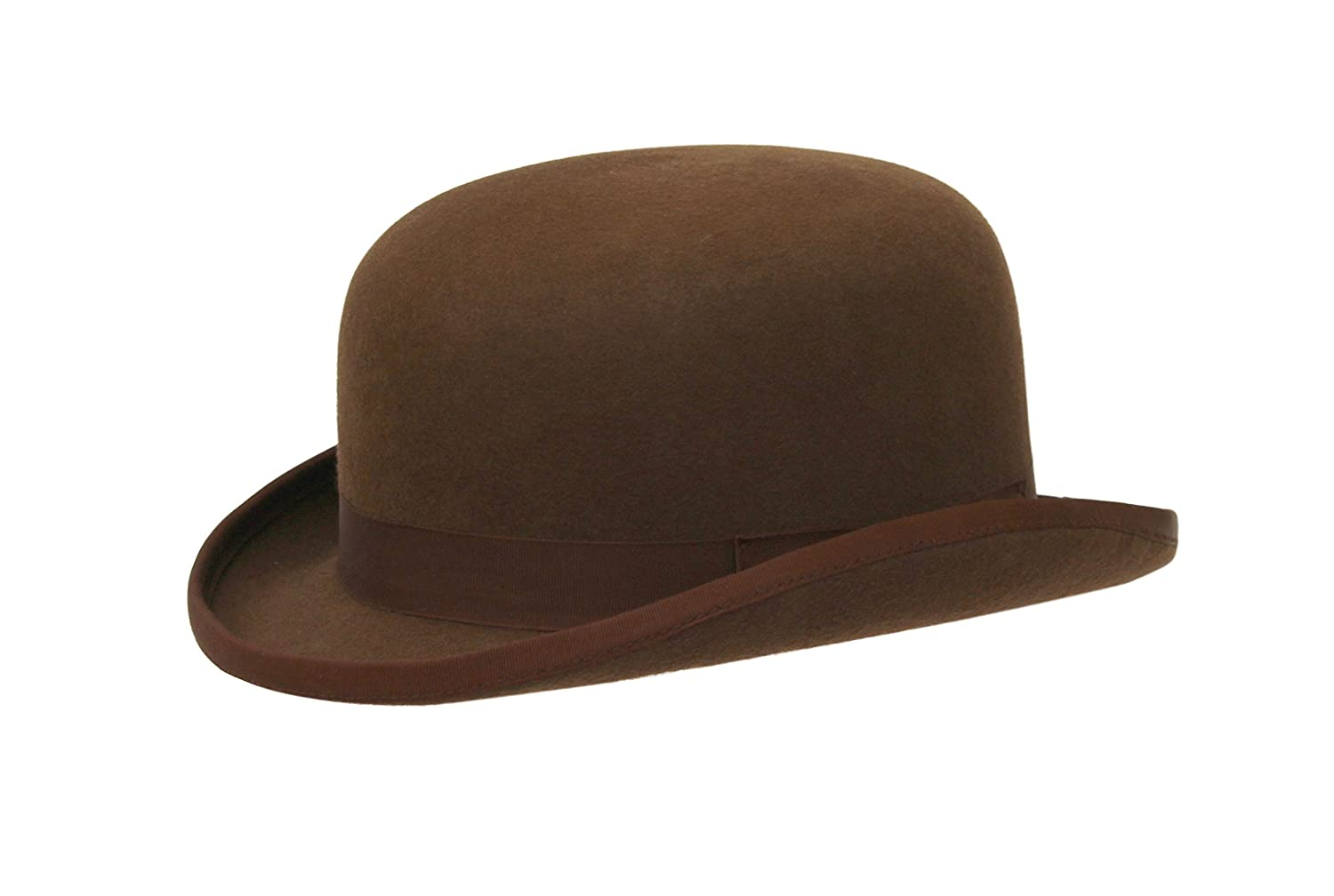 ad0a6bfb0 Men's Formal Traditional Wool Brown Bowler Hat