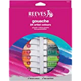 Reeves 24-Pack Gouache Color Tube Set, 10ml