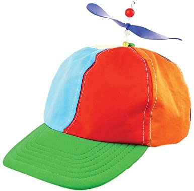 eaa78bcd61a Cartoon Character Fancy Dress Party Helicopter Propeller Beanie Hat Ball Cap   Amazon.co.uk  Clothing