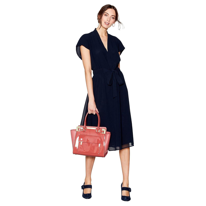 J Jasper Conran Womens Navy V-Neck Tie Waist Midi Dress 16: J by ...