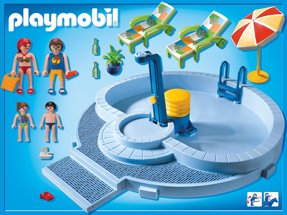 Piscine playmobil toys and pinterest playmobil and with for Piscine playmobil 5433