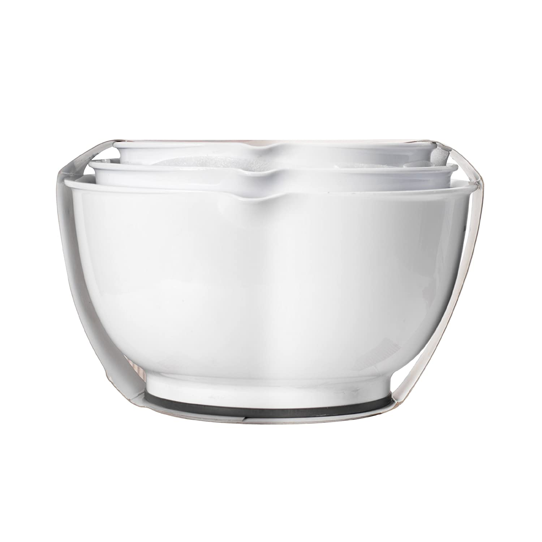 Amazon.com: KitchenAid Classic Bowls, Mixing, White, Set of 3 ...