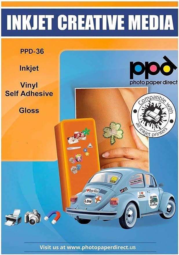PPD Pegatinas de vinilo con acabado brillante para impresión de ...