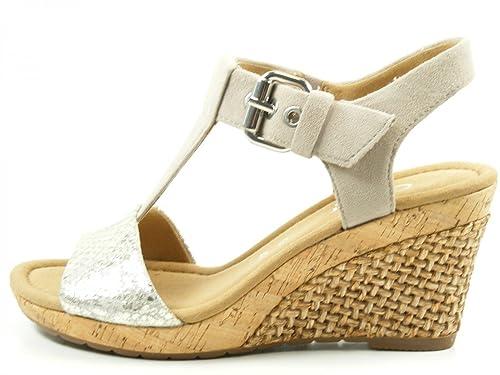 Gabor Karen Womens Modern Sandals 2.5 20 Argento/Koala Met