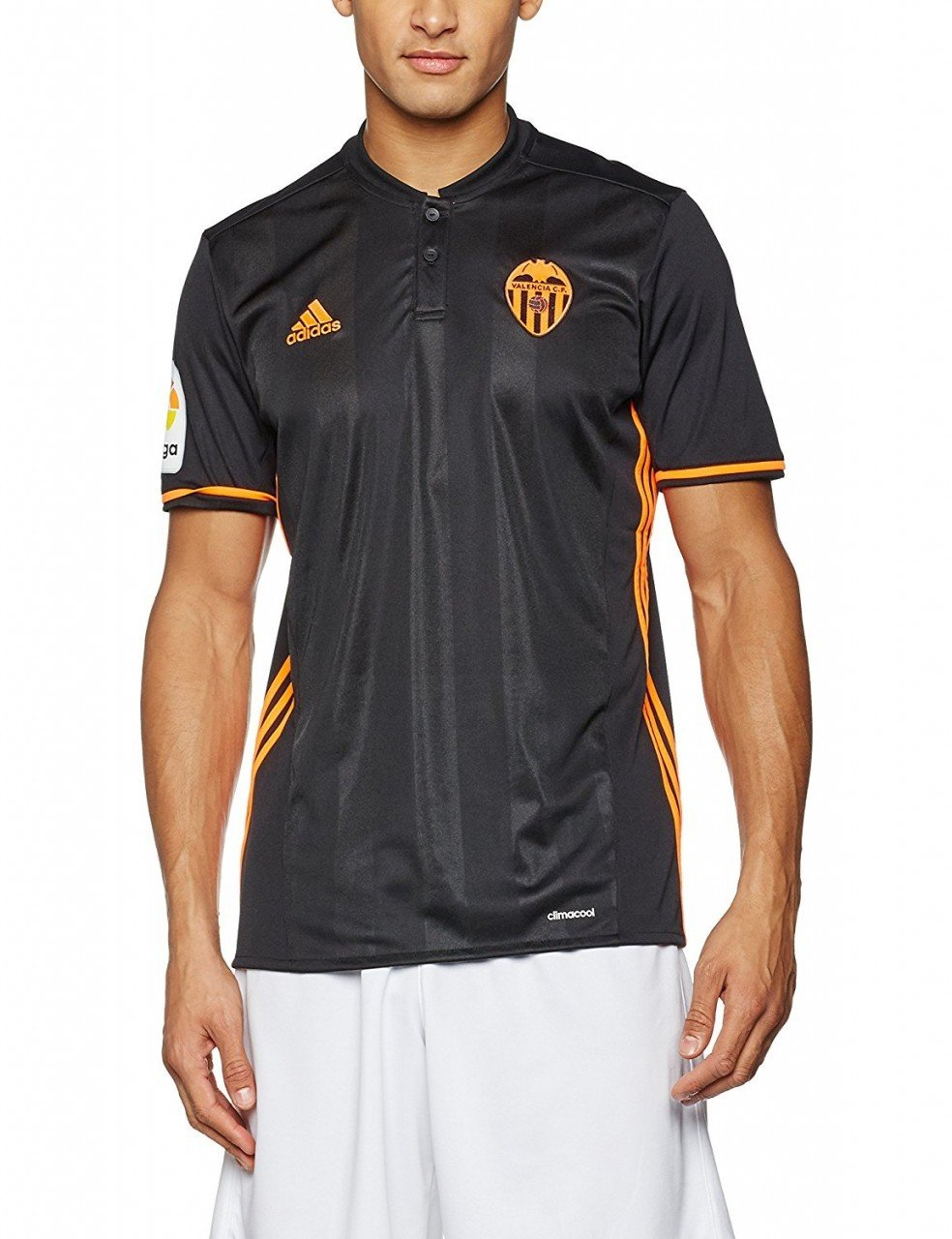 adidas 2ª Equipación Valencia CF Camiseta, Hombre, Negro, XXL ...