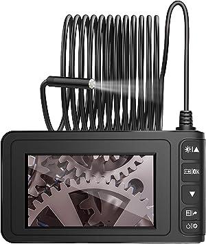 MoKo Endoscopio Industrial, Cámara de Inspección, 5M 1080P Full HD 4.3inch Endoscópica Impermeable con Pantalla LCD en Color con Tubo de Serpiente Semi-rígido Impermeable con Batería de 1700mh: Amazon.es: Electrónica