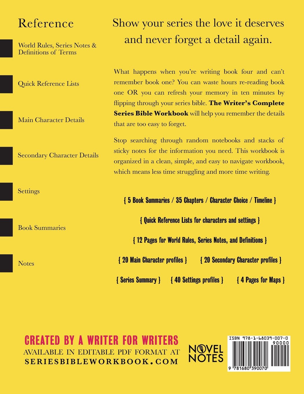 The Writer's Complete Series Bible Workbook: The one tool a series