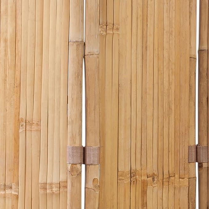 vidaXL 3Fach Bambus Raumteiler Paravent Trennwand Sichtschutz spanisch 120x170cm
