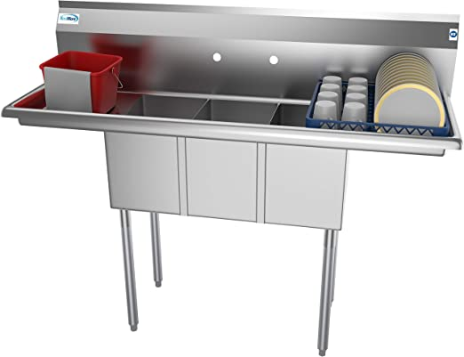 Amazon.com: KoolMore - Fregadero de cocina comercial NSF de ...