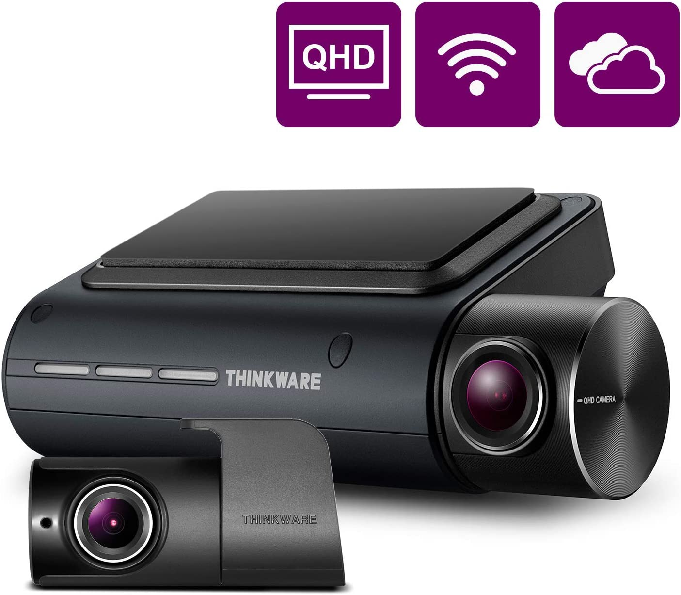 THINKWARE Q800PRO Dual Dash Cam Front and Rear Camera for Cars, 1440P, Dashboard Camera Recorder with G-Sensor, Car Camera w/Sony Sensor, Parking Mode, WiFi, GPS, Night Vision, Loop Recording, 32GB