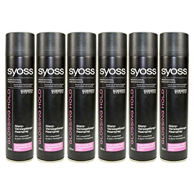 6 x syoss glossing Hold brillo de sellador al pelo Spray – 400 ml