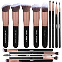 14-Pieces BS-Mall Premium Synthetic Foundation Powder Concealers Eye Shadows Makeup Brush Sets (Rose Golden)