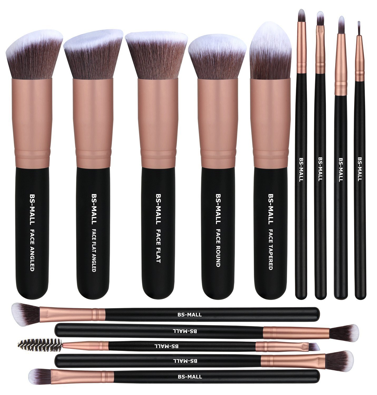 BS-MALL Makeup Brushes Premium Synthetic Foundation Powder Concealers Eye Shadows Makeup 14 Pcs Brush
