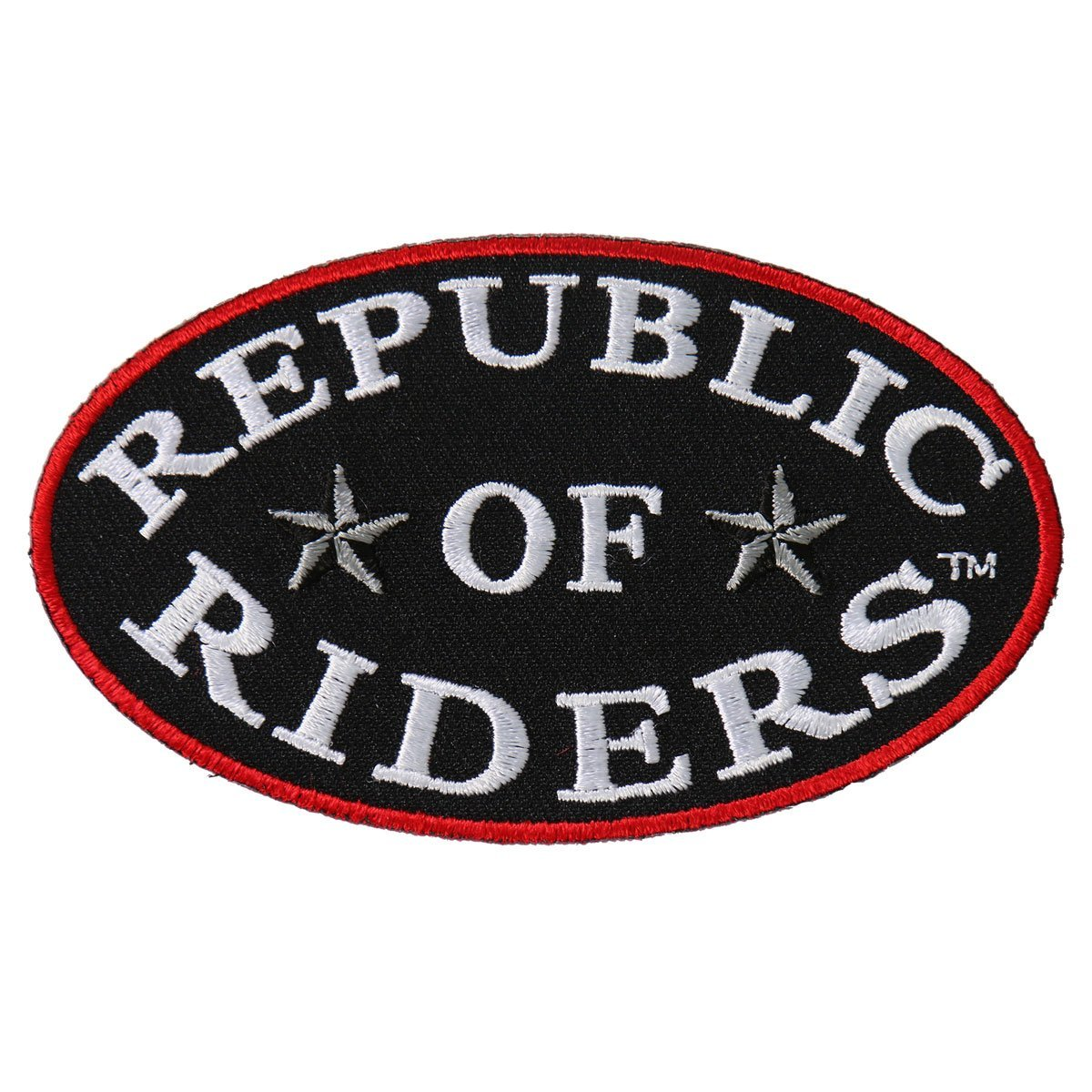 Hot Leathers 4 x 2 Exceptional Quality REPUBLIC OF RIDERS Iron-On // Saw-On Rayon PATCH PARCHE