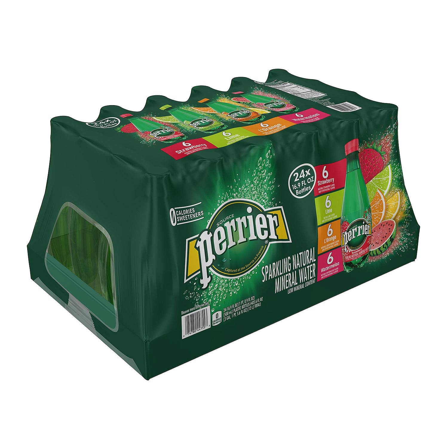 Perrier Sparkling Natural Mineral Water, Assorted Flavors (16.9 oz, 24 pk.) by Perrier (Image #2)