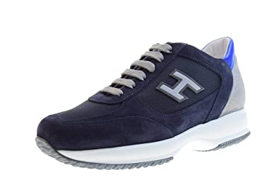 50a61c1faa0 HOGAN Shoes Men Low Sneakers HXM00N0Q102JGF489G New Interactive Size 9(43)  Blue