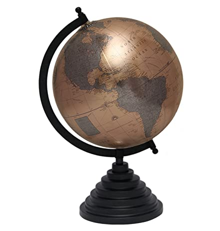 Antique TableTop 8 Inches Diameter Metallic Bronze Office Home Décor  Desktop World Globe Decoration