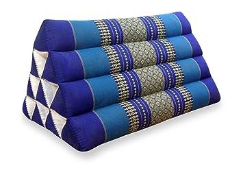 Amazon.com: Asia wohnstudio Kapok Wedge Thai Triángulo Cojín ...