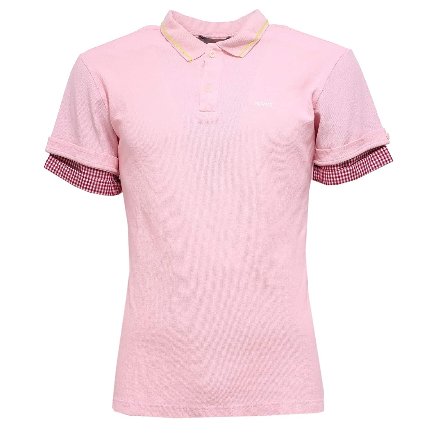 DANIELE ALESSANDRINI 0186Y Polo uomo Homme Pink Polo t-Shirt ...