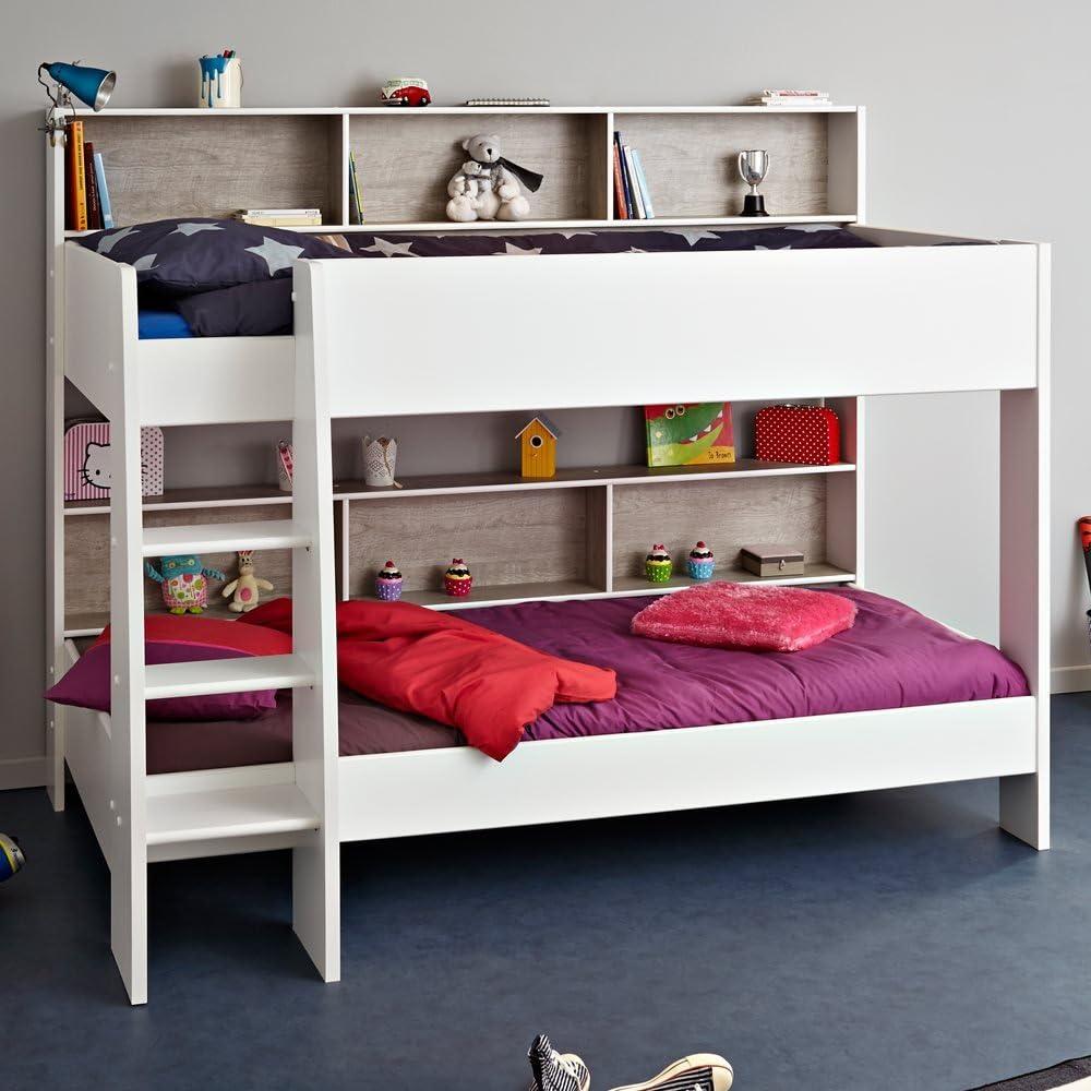 Kids Avenue Parisot Tam Tam para niños litera para Cama en Color Blanco y Gris: Amazon.es: Hogar