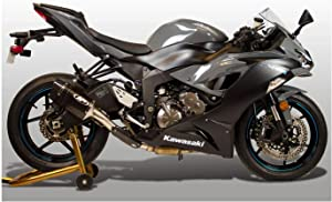 M4 Performance Exhaust Slip-on Muffler Tech1 Carbon Canister compatible with 2009-2019 Kawasaki ZX-6R KA6934