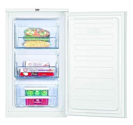 Beko FS166020 Congelador mini, bajo encimera, 65 litros, Acero, Blanco