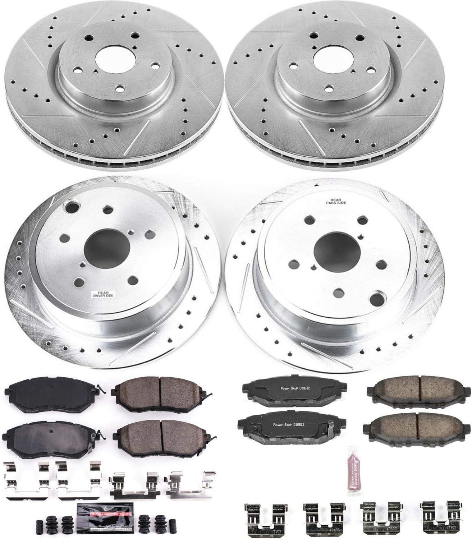 Power Stop K5929 Front /& Rear Z23 Evolution/Sport Brake Upgrade Kit Z23 EvolutionSport Brake Upgrade Kit