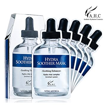 A.H.C. Hydra Soother Mask - Pack of 5 CLEAN & CLEAR Morning Burst Facial Cleanser 8 oz (Pack of 4)