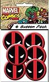 "C&D Visionary Marvel Extreme Classic Deadpool Spiderman Head Shot 1.25"" Button (6-Piece)"