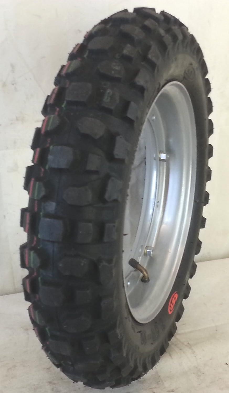 Complete Wheel 3. 50-10 56J CTS Tubeless LML Star Piaggio Vespa PX, Snow, Mud Brown RMS