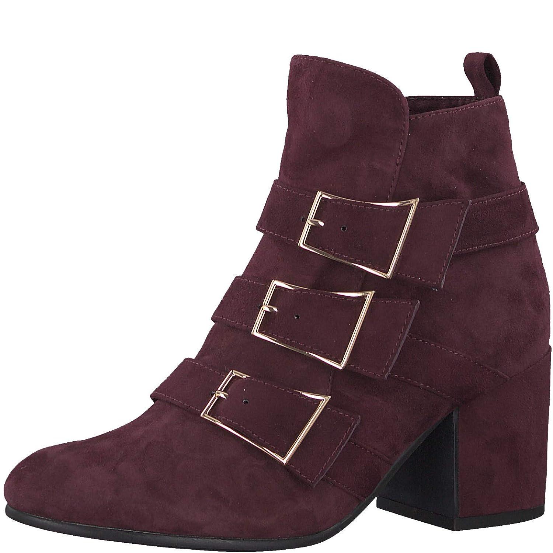 Tamaris Damen Trend-Stiefelette rot Leder/Textil 40 -