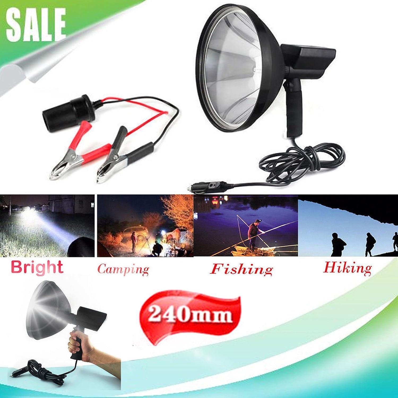 100 W Jagd Lampe Licht Shooting Hand Held Stockfleck Taschenlampe Spot Licht Außen Suche Licht Licht 12 V Auto