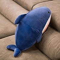 Cute Plush Shark Toy Kawaii Cartoon Cat Face Shark Soft Stuffed Doll Kids Toys Shark Pillow Cushion Birthday Children…