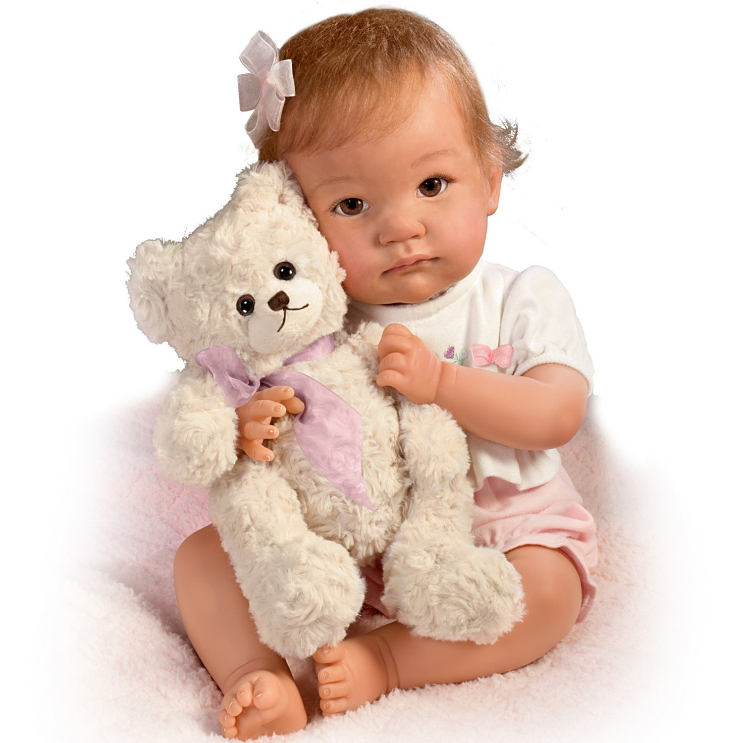 The Ashton-Drake Galleries: I Promise To Love You, Teddy Baby Doll With Toy Bear by The Ashton-Drake Galleries by The Ashton-Drake Galleries