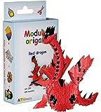 Origami modulaire 320-Pièces - Set papier petit dragon, rouge
