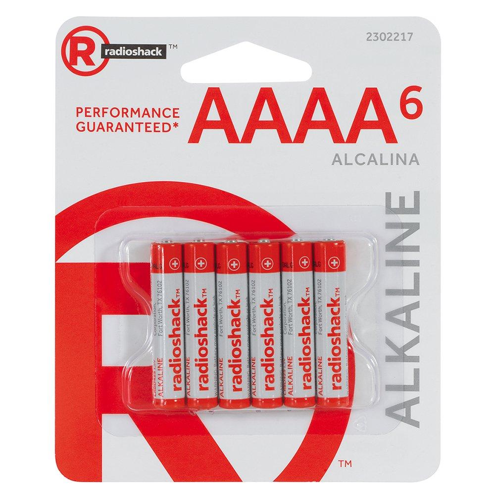 RadioShack AAAA Alkaline Batteries 6-Pack