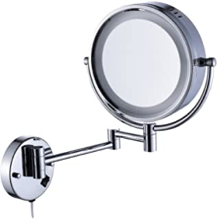 Delicieux Cavoli Makeup Mirror With LED Lighted Wall Mounted Magnification,Chrome  Finish (8.5 Inch