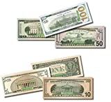 Six Packs of Best Real looking Play Money, Smaller